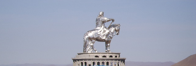 Equestrian statue of Genghis Khan in Erdene sum, Mongolia