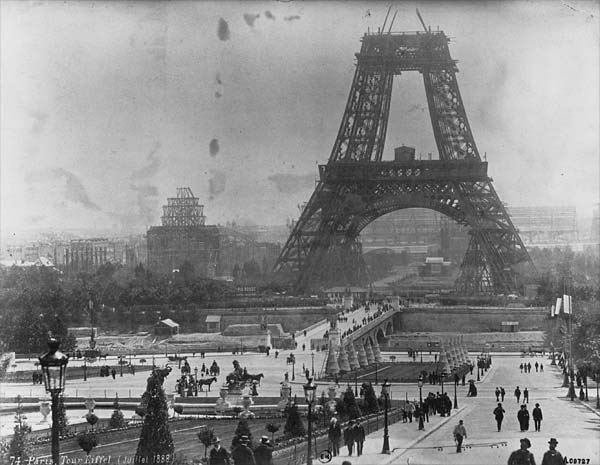 Eiffel Tower in construction