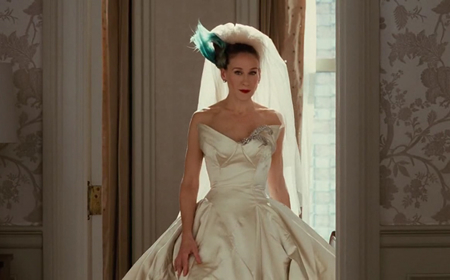 Vera Wang's wedding dress in the Sex and the City