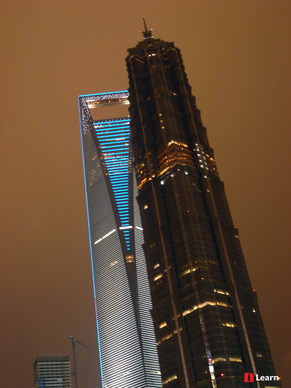 Jin Mao Tower and Shanghai World Financial Center