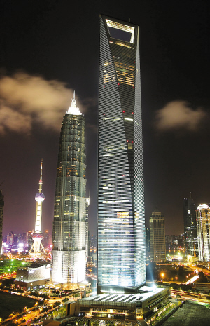 One of the three most distinct Skyscrapers in Pudong of Shanghai