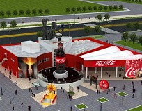 Expo 2010: Pavilions &#8211; Coca-cola &amp; The Space Pavilion (Zone D)
