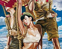 Hu Ming – Chinese Artist behind Paintings of Sexy Military Women